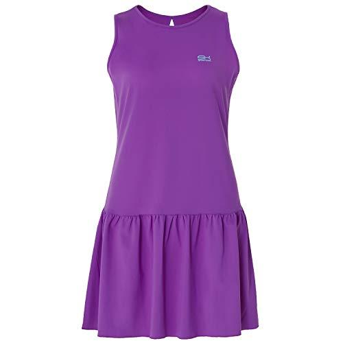 Sportkind Mädchen & Damen Tennis/Hockey/Golf Loose Fit Kleid, violett, Gr. M