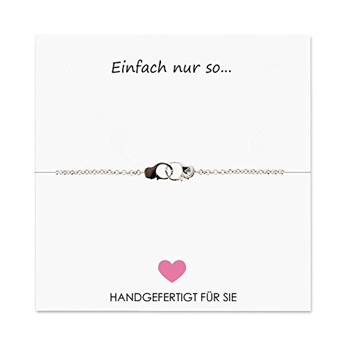 Sovats Damen Geschenk Handschellen Kette-Armband (Einfach nur so.)