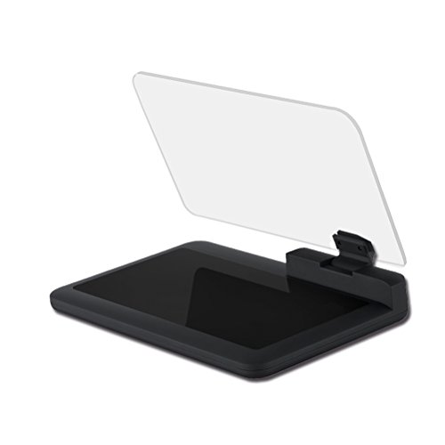VORCOOL Head Up Display Auto HUD Telefon GPS Navigation Bild Reflektor Universal Smart Mobile Handy Halter Halterung (Schwarz) Mobile Display-bilder