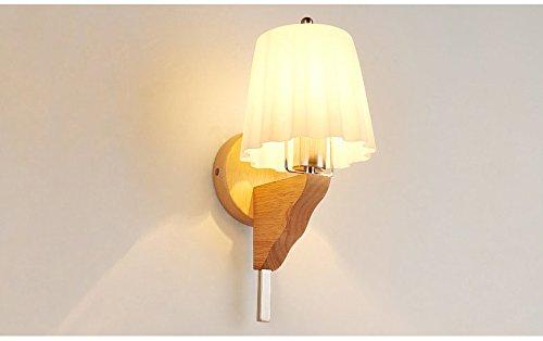 GCCI Moderne Nachttisch-wandleuchte Einfache Kreative Massivholz Led Energiesparende Schlafzimmer Wohnzimmer G?nge Korridor Hotel Hotel...