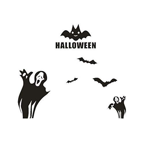 (Liushop Happy Halloween Fledermäuse Wandaufkleber Fenster Dekoration Neue DIY Wandaufkleber Dekoration Aufkleber 70 * 60 cm)