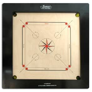 Sucro Surco Champion Speedo Carrom Board With Coins And Striker, 20Mm