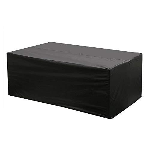 Etmury Schutzhülle für Gartenmöbel, 200 x 160 x 70 cm, Wasserdicht, Atmungsaktiv, aus Oxford-Gewebe für Tische und Sedute rechteckige rechteckige Abdeckung für UV-Schutz (Schwarz)