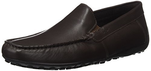 Geox snake b, mocassini uomo, marrone (coffee), 44 eu