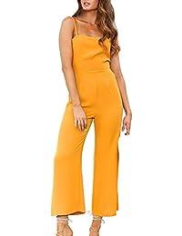 e4fe6fc90562 iHAZA V Neck Jumpsuit Women Holiday Mini Playsuit Beach Party Sleeveless  Romper