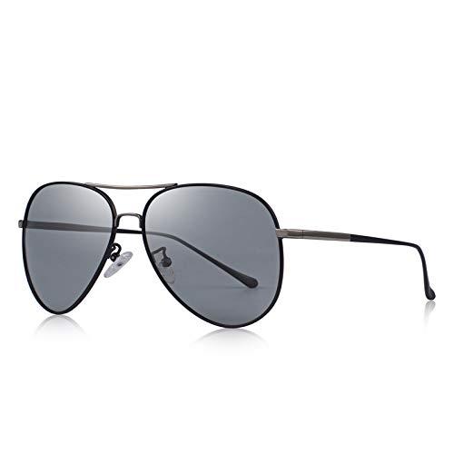 DEFG&FAD Herren Classic Polarized Photochromic Sonnenbrille Driving Sonnenbrille 100% UV-Schutz, C02 Grau