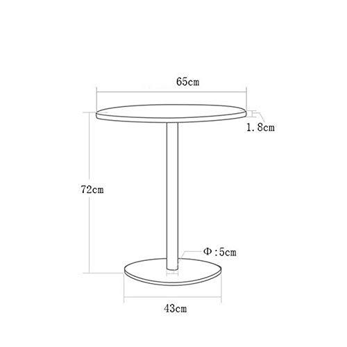 DEED Kleiner Tisch Haushalt Schreibtisch Konferenz Negotiation Haushalt eine Vielzahl der Arten, einfacher Moderne Schlafzimmer Einfache Studie Tisch Speise,Runde S,B (Für Studenten Runde Tisch Studie)