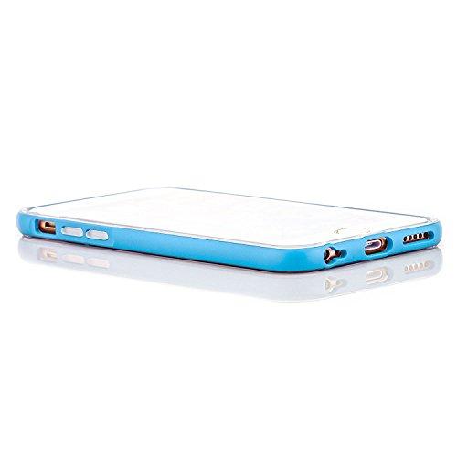 Hoco. Apple iPhone 6 / 6S Hülle Slim Case Cover Hardcase Schutzhülle   Pink Blau