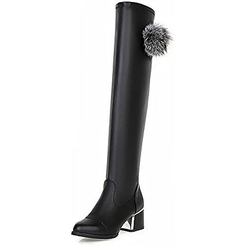 Moda autunno e l'inverno stivali tacco alto/ palla a punta carino pelliccia stivali donna