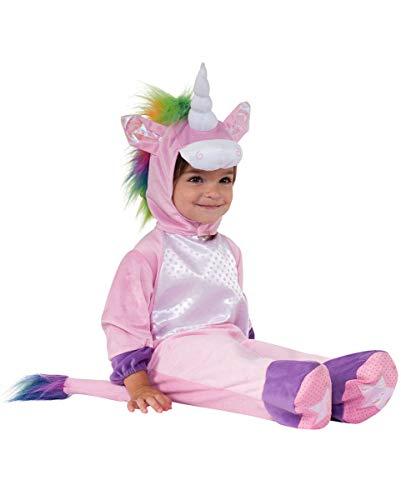 (Horror-Shop Süßer Einhorn Baby Plüsch-Kostümanzug für Fasching & Mottopartys S)