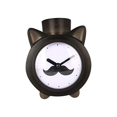Umidificatore Ambiente-TianranRT Purificazione Dell'Aria Dell'Umidificatore Dello Spruzzo Del Filtro Da Aromaterapia Di Mini Mute House Clock (Nero)