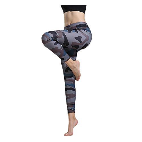 Dorical Damen Hohe Taille Print Leggings Sportgymnastik Yoga Workout Fitness Lounge Sportlich Enge Hose Spielraum -