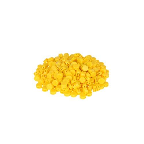 Preisvergleich Produktbild 250 St. Kunststoffplomben gelb 8mm - Plomben