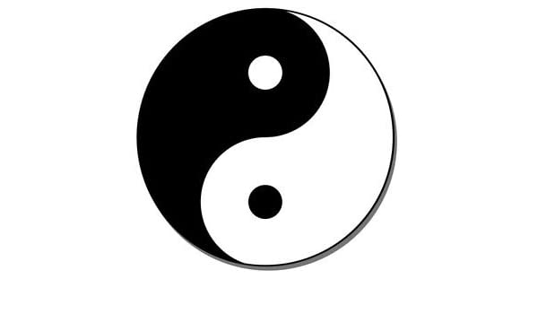 Ying And Yang Symbol Round Mouse Mat Taoist Yingyang Amazon