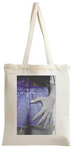 Sexy Butt Blue Jeans Summer Tote Bag (Denim Blue Tote)