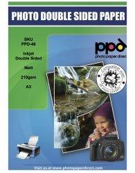A3 Photo Paper Double Sided Matt 210g X 100