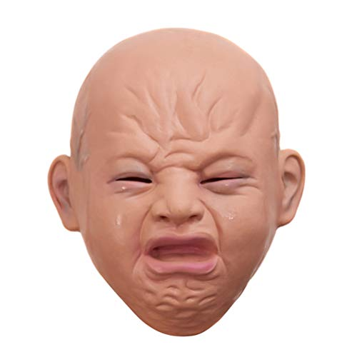 ASOSMOS Crying Face Baby Latex Maske Overhead Scary Halloween Party Kostüm Requisiten