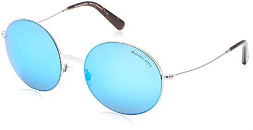MICHAEL KORS Unisex-Erwachsene Kendall Ii Sonnenbrille, Blau (Silver 100125), 55