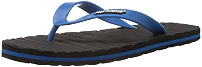 Sole Threads Men's Grooves Charcoal and Aqua Flip-Flops and House Slippers - 10 UK (8911102191)