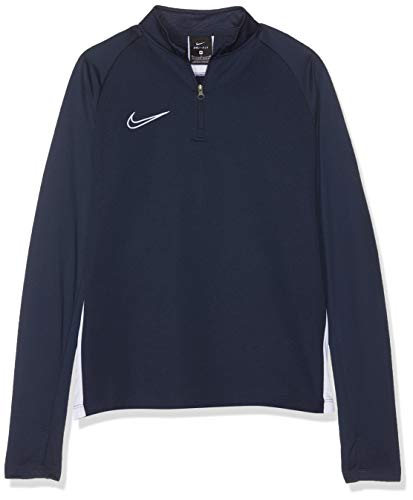Nike Jungen B NK DRY ACDMY DRIL TOP Long Sleeved T-Shirt, Obsidian/White, L (Shorts Kletter-t-shirt)
