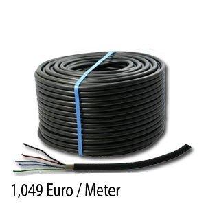 Waskönig+Walter Erdkabel PVC schwarz NYY-J 5x1,5 Ring 100m zur Verlegung im Freien, Erdreich