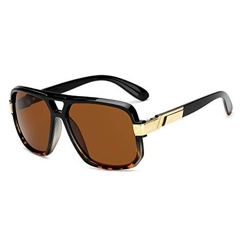 WWVAVA Sonnenbrillen Platz Sonnenbrille Männer Luxusmarke Design Paar Dame Promi Wohnung Heiße Frauen Sonnenbrille Super Star Cool Eyewear, c2
