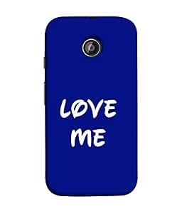 PrintVisa Designer Back Case Cover for Motorola Moto E2 :: Motorola Moto E Dual SIM (2nd Gen) :: Motorola Moto E 2nd Gen 3G XT1506 :: Motorola Moto E 2nd Gen 4G XT1521 (Love Me In Cool Blue Design)