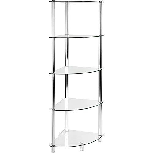 STILISTA/® 2 St/ück Alu Lautsprecherst/änder mit Kabelkanal Varianten 8mm Sicherheitsglas Klarglas und Schwarzglas