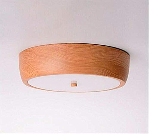 18w Laterne (Deckenbeleuchtung Deckenleuchte Pendelleuchten Deckenleuchte Modern Home Woodgrain Garderobe Kinderzimmer 18 Watt Weißes Licht Diameter33Cm)