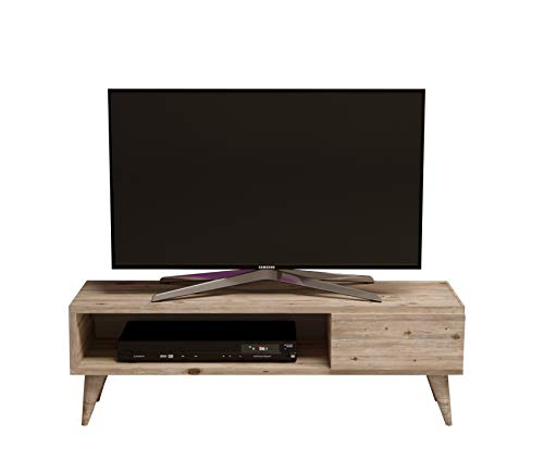 MAYA TV-Lowboard / Natur-Holzfarbe / TV-Board – Fernsehtisch in elegantem Design
