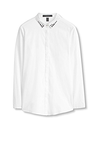 ESPRIT Collection 106EO1F024 Damen Bluse Weiß (White 100)