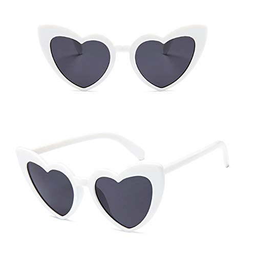 YUHANGH Herz Sonnenbrille Frauen Markendesigner Cat Eye Sonnenbrille Retro Love Heart Shaped Glasses Ladies Shopping Sunglass