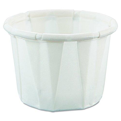 Solo Cup Company 050Papier Teil Tassen, stark haftend, weiß, 250Pro Bag (Fall von 20Staubbeutel) -