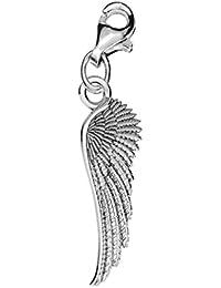 Auténtica Plata 925 fallen angel wing rígida para pulsera ideal para Thomas Sabo pulsera o collar con colgante en forma