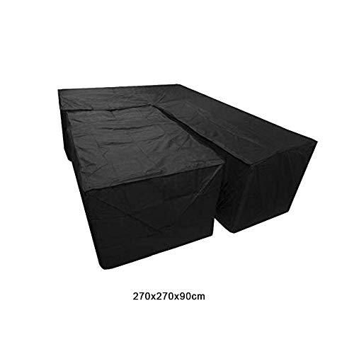 Wovemster 2pcs L-förmige Outdoor Garden Home Staubschutz Tisch Und Stuhl Schutzhülle Ecksofa Abdeckung Outdoor Wasserdicht Staubdicht Kratzfest - L-förmige Couchtische