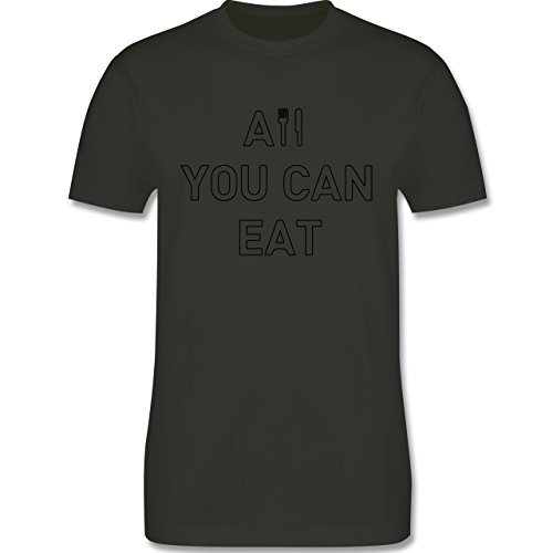 Küche - All you can eat - Herren Premium T-Shirt Army Grün