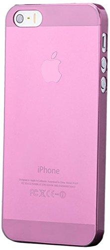 iCues Apple iPhone SE / 5S / 5 |  Ultra Slim Case Rot | [Display Schutzfolie Inklusive] Extra Leicht sehr Dünn Transparent Klarsichthülle Durchsichtig Klare Klarsicht Schutzhülle Hülle Cover Schutz Rose
