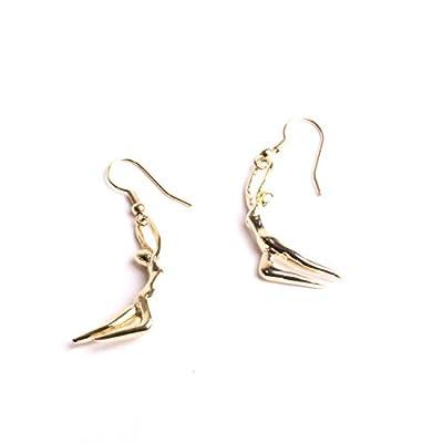 Bijoux de Créateurs boucles d'oreilles femmes, silhouette danseuse dormeuse fabrication artisanale de notre marque By Mode France.