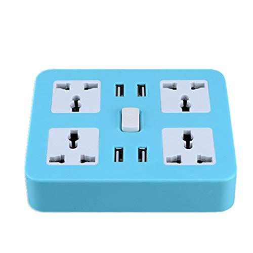 Enchufe Múltiple Inteligente 4 Tomas 4 USB Zócalo Panel de Parches Cuadrado...