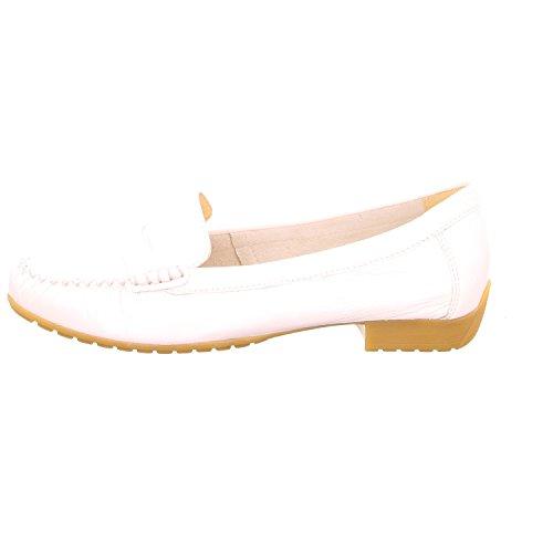 Caprice 2425626123, Mocassini donna Bianco weiße Lacklederoptik Bianco (bianco)