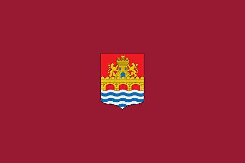 magFlags Flagge: Large Antigua de Balmaseda | Anterior a 2002 de Balmaseda Vizcaya estandarte del siglo XIX en raso carmesí | Querformat Fahne | 1.35qm | 90x150cm » Fahne 100% Made i