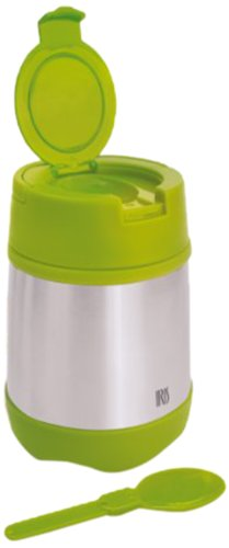 Iris - Recipiente isotérmico infantil (doble capa, con cuchara y asa) verde verde Talla:500 ml