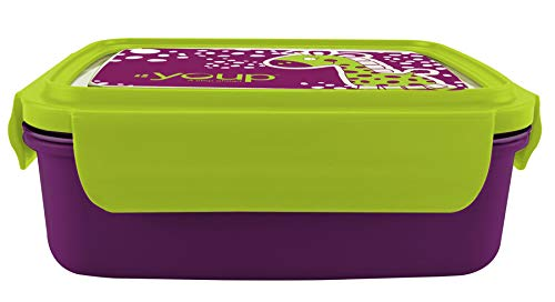 Youp Stainless Steel Purple and Green Color Kids Lunch Box YP8001-800 ml