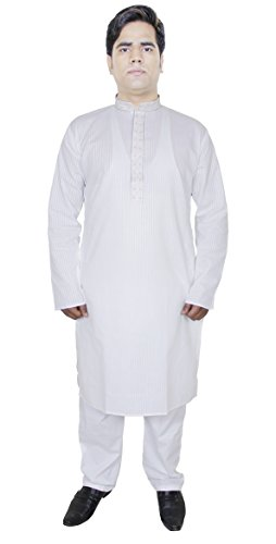kurta-pajama-mens-pure-cotton-stripe-white-dress-solid-ethnic-summer-dress-l