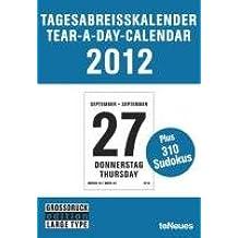 Tagesabreißkalender / Tear-a-day Großdruck 2012