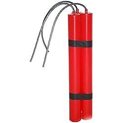 halloweenia-Barre Jouet Dynamite de Prisonnier Costume l'intrus Mafia SWAT, 24cm, rouge