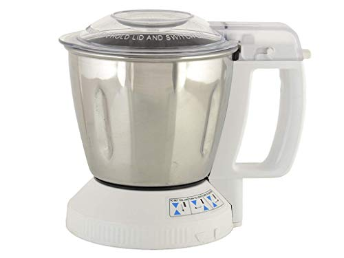 Panasonic 1100 ml Steel Mill Jar with Safety Lid Locking System MX-SM11 for Super Mixer Grinder Models of MX-AC210, MX-AC220, MX-AC250,MX-AC300,MX-AC310,MX-AC350,MX-AC400,MX-AC555 Only,White Base