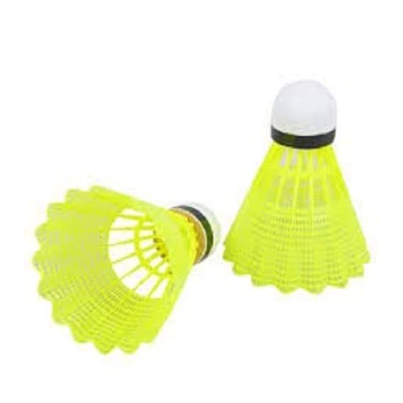 SG Enterprise 10 Pieces Plastic Nano Shuttlecock for Kids and Starter (Yellow)