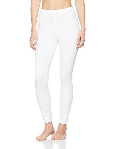 Iris & Lilly Damen Lange Thermo-Unterhose 2er Pack, Weiß (White), 42 (Herstellergröße: L)