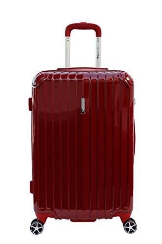 Tamaris Fun Hartschalen Koffer, 4 Rollen Reisekoffer für Damen/Herren mit TSA Schloss, 67,5x44,5x26 - 60L, Rot